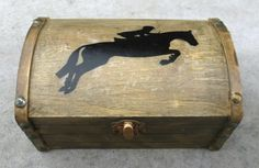Show Jumping Horse Jewelry Chest by PeacefullyPerfect on Etsy
