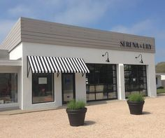 nice for office windows. Serena & Lily store in the Hamptons. The store is located at 332 Montauk Highway, Wainscott, NY Building Front, Building Facade, Building Exterior, Building Design, Mall Facade, Retail Facade, Facade Design, Exterior Design, Architecture Design