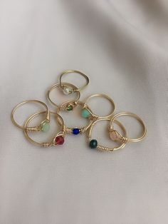 Wire Jewelry Rings, Handmade Wire Jewelry, Diy Crafts Jewelry, Hand Jewelry, Beaded Rings, Beaded Jewelry, Jewelery, Stylish Jewelry, Cute Jewelry