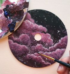 cd art / cd art - cd art projects - cd art diy - cd art for kids - cd art aesthetic - cd art painting - cd artwork cd art - cd artwork Art Mini Toile, Art Sur Toile, Cute Canvas Paintings, Mini Canvas Art, Aesthetic Painting, Aesthetic Art, Art Cd, Record Wall Art, Diy Y Manualidades