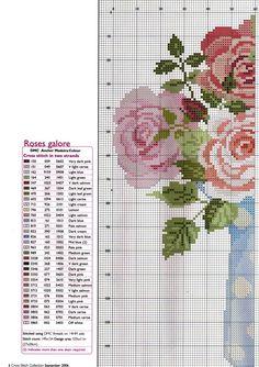 Punto croce - Schemi Gratis e Tutorial: Splendidi mazzi di fiori a punto croce