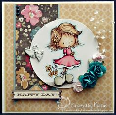 Kards by Katie Kreations- Image Celebrate Joyfully by Tiddly Inks; colored with Copics
