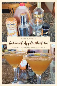 Smirnoff Caramel Vodka, Caramel Apple Martini, Caramel Apples, Apple Cider Drink, Apple Cider Cocktail, Cider Cocktails, Apple Martini Recipe Vodka, Apple Vodka, Vodka Recipes