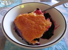 Haskap Pudding Cake (Can Be Made With Blueberries)