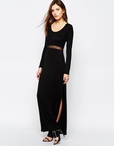 BCBGeneration+Maxi+Dress+with+Mesh+Insert