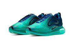 "Nike Air Max 720 ""Green Carbon"" Release swoosh air max day green blue air unit Air Max Day, Fresh Kicks, Latest Shoe Trends, Nike Air Max, Shoe Game, Royal Blue, Blue Air, Trainers, Me Too Shoes"