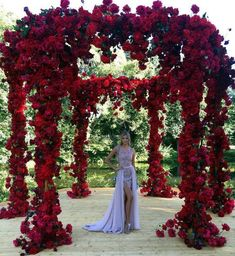 Red decoration for your wedding ceremony for the beautiful day - # Ce. Red decoration for your wedding ceremony for the beautiful day - # Ceremony - - Wedding Goals, Wedding Planning, Wedding Day, Red Rose Wedding, Wedding Flowers, Trendy Wedding, Wedding Ceremony, Wedding Venues, Wedding Gazebo
