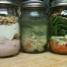 The perfect mason jar lunch!!!