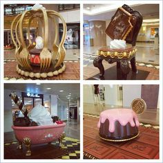 Welcome to Chocolate Trail 2013 @ Harbour City. Indulge yourself in the Chocolate Kingdom. Cream Furniture, Cute Furniture, Shop Interior Design, House Design, Deco Restaurant, Bakery Design, Chocolate Factory, Kids Corner, Room Themes