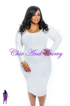 New Plus Size Bodycon Dress with Textured Fabric in Cream ...