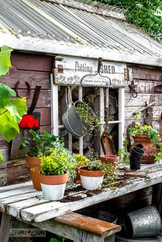 Potting shed sign wi