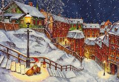 View Image, Gnomes, Christmas Cards, Painting, Holidays, Xmas Greeting Cards, Vacations, Holidays Events, Painting Art