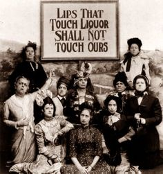 This is a great photograph taken in 1919. The picture shows a group of women committing to rather extreme measures in support of the temperance movement. The temperance movement was an effort in the 1910's in the United States to reduce alcohol consumption. It actually led to Prohibition.
