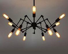 12 têtes Edison ampoule plafonnier acier - style industriel d'ampoule - ampoule à incandescence E27 - edison - DIY Eclairage - lampe suspendue - style vintage