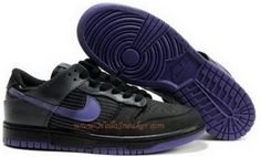 http://www.asneakers4u.com 325007 051 Nike Dunk Low Premium Black Purple 3M Reflective Material K031182