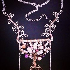 Triple Blessings Tree Hope Faith Love Pearls Bib Charm on Etsy, $48.00