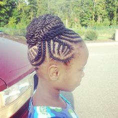 little girls natural hairstyles high bun twostrand two strand twist protective style