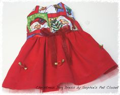 Hey, I found this really awesome Etsy listing at https://www.etsy.com/listing/212587059/christmas-dog-dress-sholiday-pet-clothes