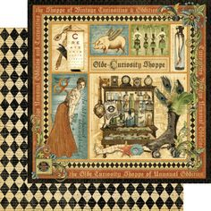 """""""Olde Curiosity Shoppe"""" paper from our New Collection! #graphic45 #CHA #newcollection"""