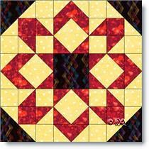 This is the week for fireworks in Canada and the USA so how about a quilt block called *Fireworks* !