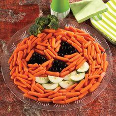 vegatable skeleton | halloween recipes veggie tray veggie tray