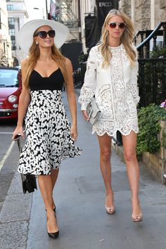 Heading to the Arts Club in Mayfair with sister Paris Hilton. - HarpersBAZAAR.com