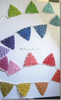 Another adorable crochet bunting