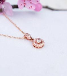Rose Gold Crystal Heart Earrings Katherine Swaine bridal