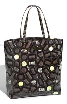 kate spade new york - daycation chocolate coated canvas bon shop (Aria) Unique Purses, Unique Bags, Kate Spade Handbags, Kate Spade Purse, Novelty Bags, Novelty Handbags, Pretty Little Liars Fashion, Kawaii, Backpack Purse