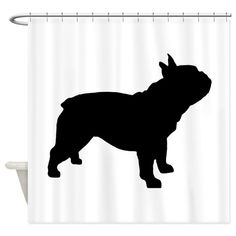 Woof Dog Design's French Bulldog silhouette, available on shirts, t-shirts, apparel for kids and adults, gift items, housewares, stickers, magnets, mugs, hats and more for French Bulldog lovers!
