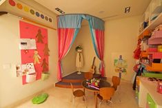 Kids Playroom Design, Pictures, Remodel, Decor and Ideas - page 13 Dramatic Play Area, Dramatic Play Centers, Kids Stage, Playroom Stage, Playroom Ideas, Modern Playroom, Basement Ideas, Architecture France, Kids Indoor Play