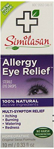 #care Eye Doctor recommended #Similasan Allergy Eye Relief stimulates the eye's natural ability to fight symptoms of allergies due to pollen, pet dander, mold sp...