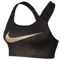 Nike Pro Swoosh Bra - Women's - Black / Gold