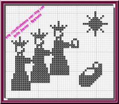 Grille gratuite crochet ou point de croix : Epiphanie - LES FILS D'HELENE