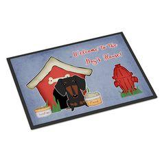 Caroline's Treasures Dog House Dachshund Doormat Rug Size: 2' x 3'