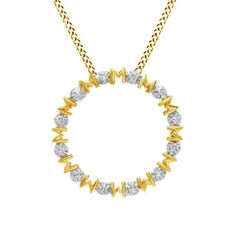White Natural Diamond Accent Mom Circle Pendant Necklace in Yellow Gold Over Sterling Silver Circle Pendant Necklace, Natural Diamonds, Diamond Pendant, Pendants, Sterling Silver, Mom, Yellow, Jewelry, Jewels