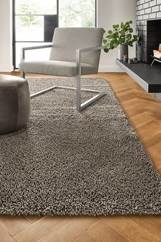 The Arden rug is woven in the U. of felted New Zealand wool and has a ribbed pile that feels luxuriously plush underfoot. Contemporary Rugs, Modern Rugs, Modern Chairs, Entryway Furniture, Diy Furniture, Modern Furniture, Furniture Design, Solid Rugs, Lamp Design