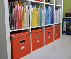 Books organized by color
