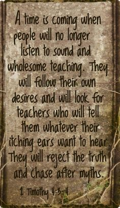 Biblical truth and sound teaching....that's sincerity.