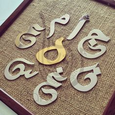 All customized #Christmas #gifts orders placed as of now and until the 4th December, can deliver before #Christmas with express shipping ONLY! Please upgrade your shipping when placing your orders. Featured are large #Arabic #letter #pendants.