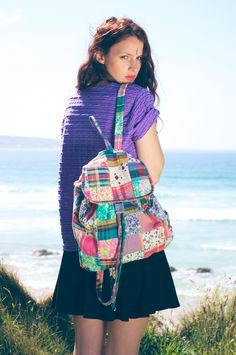 Nineties Patchwork Backpack