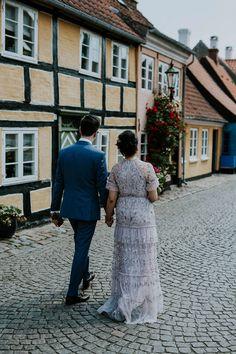 elope and get married in denmark in the beautiful old town of Aeroeskoebing. www.danishislandweddings.com Getting Married In Denmark, Couples Walking, Island Weddings, Old Town, Got Married, Our Wedding, Celebrities, Beautiful, Old City