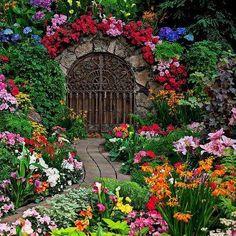 El colorido de estos jardines me deja boquiabierto