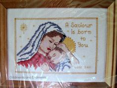 A Saviour is Born Counted Cross Stitch Kit by OddmentsandEndments, $5.00