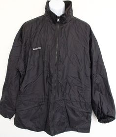 e6a32e8dd4a1c7 Columbia Jacket Coats mens XL Black Fleece Lined Sportwear Zippered Pockets