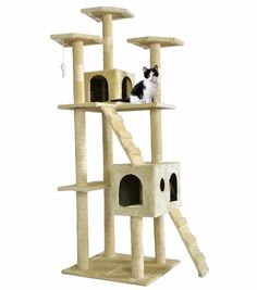 Cat owners! Check out this deal on eBay! Get this New 73″ Cat Tree Scratcher Play House for only $44.99! Normally $129.99! Great if you have multiple cats! If you have been looking for a good deal, grab this now! Comes with free standard shipping! Surface Material: Faux Fur Color: Beige & Brown &Navy Blue …