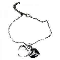 Pre-owned Baccarat Jewelry B Mine Baby Coeur Clear Heart Bracelet ($110) ❤ liked on Polyvore featuring jewelry, bracelets, heart jewelry, baccarat jewellery, chains jewelry, heart jewellery and clear jewelry