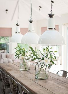 witte industriële hanglamp