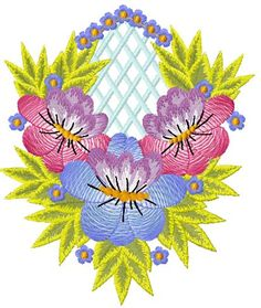 Flower decoration free embroidery 55 - Flowers free machine embroidery designs - Machine embroidery community