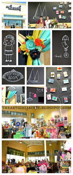 The Art Girl Jackie: Design Work for Posh Little Pig's New Store Revealed!